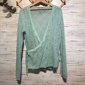 April Cornell Vintage Crochet Wrap Cardigan
